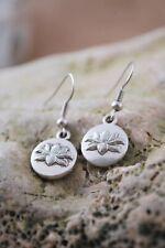 tone jewelry, small earrings,lotus jewelry Lotus earrings, yoga earrings, silver