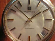 VINTAGE MOVADO 14K SOLID GOLD WRIST WATCH VERY HEAVY AUTOMATIC DATE WORKS GREAT