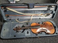 More details for violin and case, two bows labelled antonius & hieronymus amati needs repair.