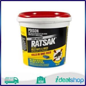 RATSAK Fast Action Wax Blocks - 66 Pack, Mouse, Rat Poison, Killer