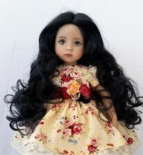 Monique Ginger Wig 7/8 for Little Darlings Kish BJD BJD Ellowyne Off Black