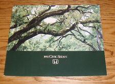 Original 1993 Honda Civic Sedan Deluxe Sales Brochure 93