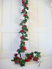 Rosengirlande Rose Efeu Girlande rot Tischdeko Deko Hochzeit künstlich ca 180cm