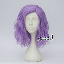 35CM Medium Light Purple Curly Fashion Women Lolita Synthetic Hair Cosplay Wig