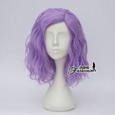 35CM Medium Light Purple Curly Fashion Women Lolita Synthetic Hair Cosplay Wig