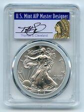 New Listing2012 $1 American Silver Eagle Dollar 1oz Pcgs Ms70 Thomas Cleveland Native