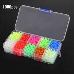 1000pc/Box Round Luminous Glow Fishing Beads Sea Fishing Lure Float Tackles Tool
