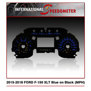 2015 - 2018 Ford F-150 XLT (Big Screen) Speedometer Faceplate (MPH)