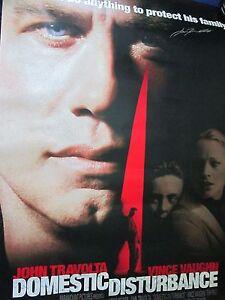 John Travolta Signed Domestic Disturbance GIANT Movie Poster - Global Authentics