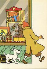 Carte postale Tintin Le sceptre d'Ottokar, le magasin de jouet