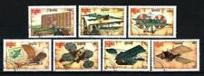 Avions Kampuchea (16) série complète de 7 timbres oblitérés