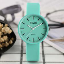 KEVIN Casual Women Dress Quartz Wrist Watches Black/White/Blue Silicone Band