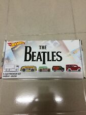 Hot Wheels Premium Car Set - The Beatles Collector's Cars (Real Riders)