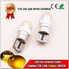 1x Yellow Amber LED Error Free Canbus COB Side Wedge Light Bulb T10 194 168 W5W