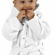 Microfleece Baby Kinder Bademantel Gr. 86-92, [Weiß], kuschelig weich Mikrofaser
