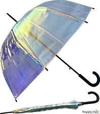 Glocken-Regenschirm Damen durchsichtig transparent Automatik Shiny bunt