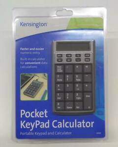 KENSINGTON USB Pocket Keypad Calculator // Works with PC & MAC Brand New Sealed