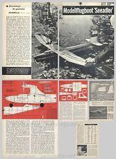 Bauplan ferngesteuertes Flugboot Motorflugmodell Seeadler - Original von 1962