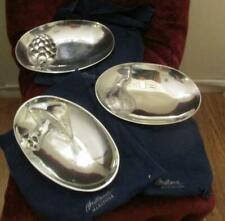 3 Mariposa Brillante Sandcast Aluminum Oval Serving Bowls w/ Pouches