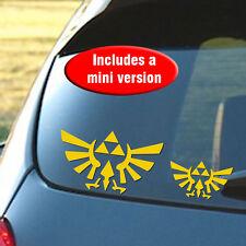"Hyrule Eagle Triforce Zelda 6"" + Mini Vinyl Decal in Metallic Gold - Switch"