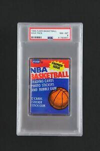 1986 Fleer Basketball UNOPENED Wax Pack PSA NM – MT 8 Possible Jordan Rookie