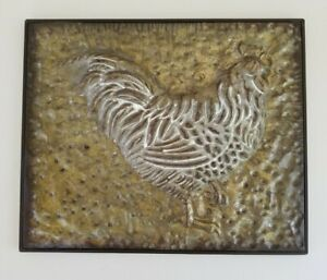 Rustic Farmhouse Metal Rooster Wall Decor