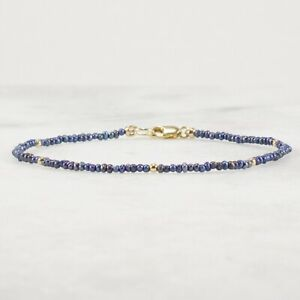 Peacock Freshwater Pearl Bracelet, Ultra Skinny Tiny Bead Stackable Silver Gold