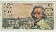 BILLET 1000 FRANCS RICHELIEU S 7 10 1954 S 90996 K 82