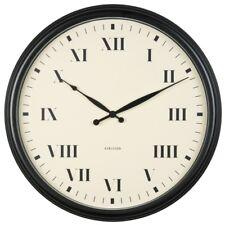 Wanduhr Old Times scharz-cremeweiß Stahl Luxus Retro Design Uhr Quarz 56 cm Ø