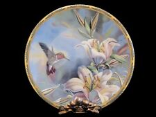 1989 Pickard Ruby-throated Hummingbird and Lilies by Cyndi Nelson
