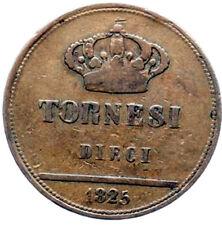 10 tornesi 1825 , 5 variato - Regno delle due Sicilie : Francesco I di Borbone