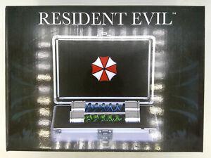 Resident Evil Officially Licensed T-Virus & AntiVirus Prop Replica vials w/ Case
