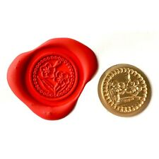 Single Wax sealing coin design 015 Masonic Forget Me Not Flower design (XWSC015)