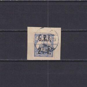 "SAMOA, British Occupation 1914, Mi#4, CV€20, Ship, Overprint ""G.R.T."", Used"