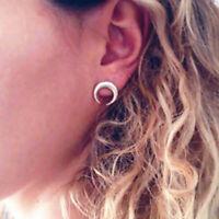 1 Pair New Fashion Women Lady Bohemian Geometric Crescent Moon Ear Stud Earrings