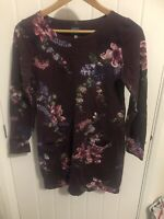 Beautiful Joules Purple Floral Quinn Jersey Tunic Dress Size 12