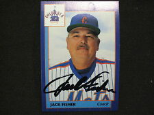 METS GREAT THE MAN WHO THRU OUT 1st PITCH AT SHEA JACK FISHER  AUTO CARD  W/COA