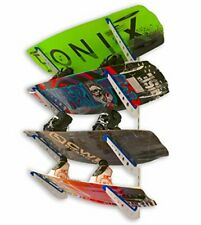 New listing Wakeboard Wall Storage Rack, Metal Adjustable 4 Wakeboard and Wakesurf Mount