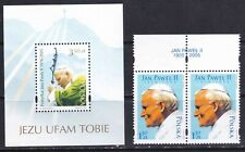 Pope John Paul II of Poland in 2 stamps + S/S mint NH