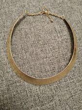 metal bib collar necklace Tribal designer style gold