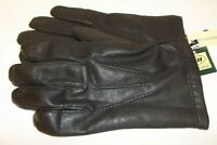 100% Leather Cashmere Men's XL Black Gloves - New with Tags
