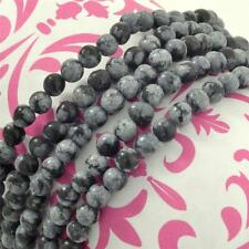 One Strand Snowflake Obsidian Stone Bead Necklace-Multiple Quantities Available