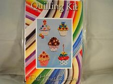 COMPLETE Quilling Kit con Strumento + carta + istruzioni Cupcake KD 11