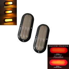 2x 74 LED Dual Color Trailer Truck Tail Brake Light Turn Signal Strobe 12V 24V