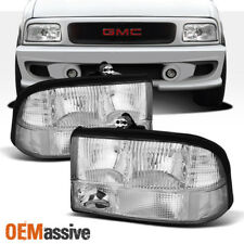 Fits 98-04 GMC Sonoma Jimmy Oldsmobile Bravada Headlights Left + Right Headlamps