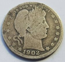 More details for usa 1902 mint barber quarter silver dollar coin lot 1