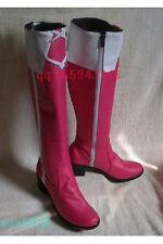 Puella Magi Madoka Magica Sakura Kyoko pink Cosplay Boots Shoes S008