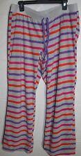 NWT Womens Joe Boxer Grey Striped Fleece Sleep Pants Size XL- Great Gift Idea
