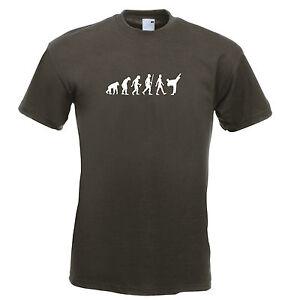 Mens evolution t shirt ape to man evolution Judo karate evolution t shirt