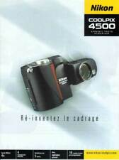 NIKON brochure pub. NIKON Coolpix 4500. édition 05/2002/A. en français
